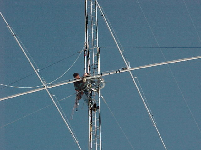 Rigging bottom 40m, tram line is cable coming down to left.